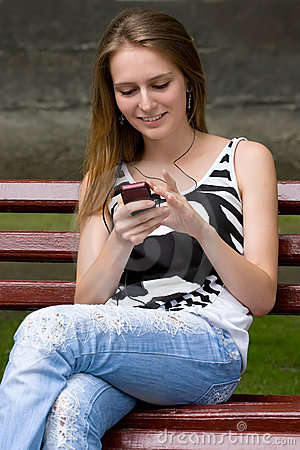 Girl is listening mp3