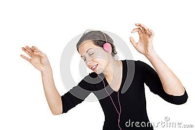 Girl listening a music