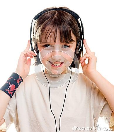 Girl listening to music 1