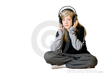 Girl Listening To Music 2