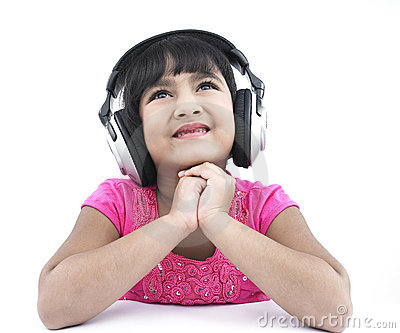 Girl listening to some good music