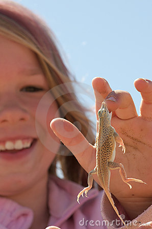 Travel Dog Bed >> Girl With Lizard Stock Images - Image: 13860084