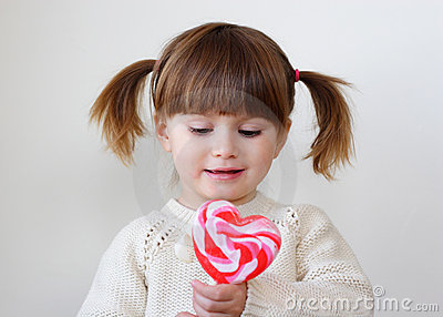 Girl and a lollipop