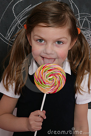 Girl and lollipop