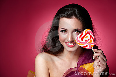 Girl with a lollypop