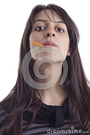 Girl lollypop
