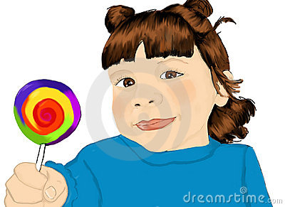Girl with lollypop