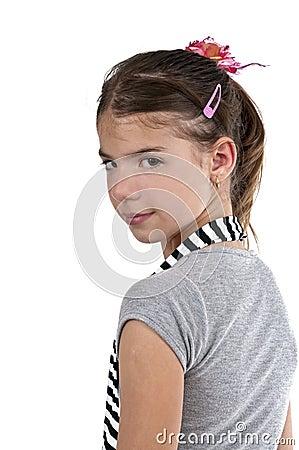 Girl looking back