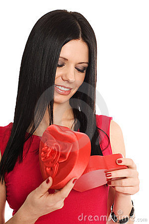 Girl Looking For A Gift Stock Images - Image: 23357744