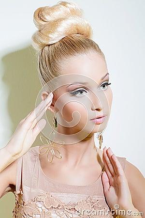 Girl looking like Barbie doll