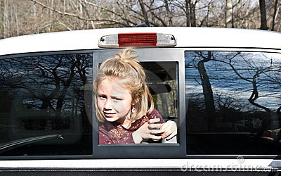 Girl Looking Out of Truck