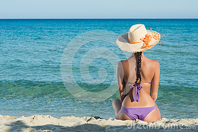 Girl Looking At Sea