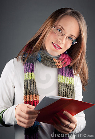 Girl with love letter