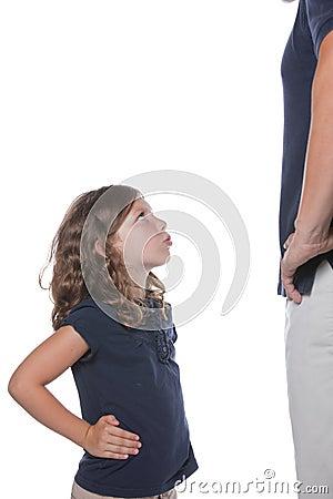 Girl Mad at Dad