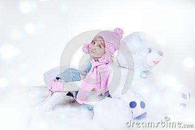 Girl and magic winter