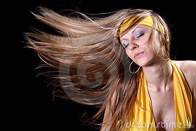 Girl with magnificent hair