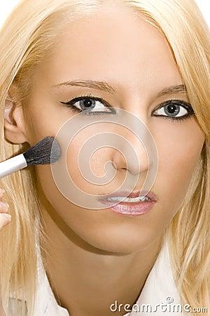 Girl make her make-up