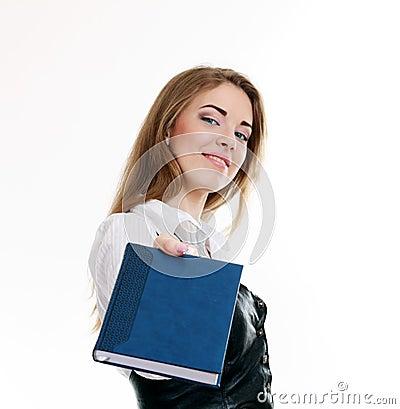 Girl making presentation