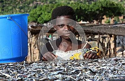 Girl in Malawi, Africa Editorial Image