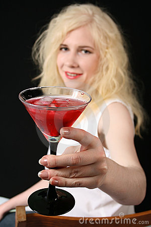 Girl with Martini