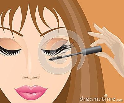 Girl with mascara