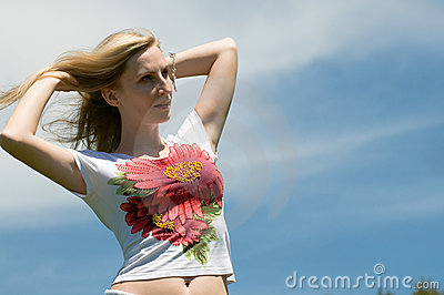 Girl mastering the wind