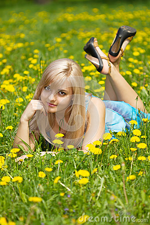 The girl in the meadow