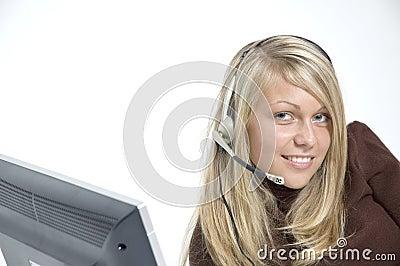 Girl / microphone headset