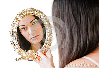 Girl and mirror