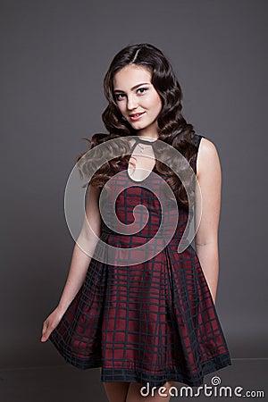 Free Girl Model Posing In The Studio Stock Image - 76499481