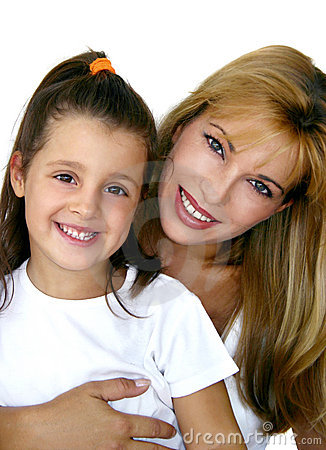 Girl with mommy