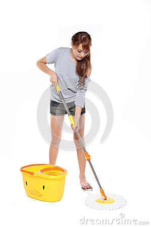 Girl mopping
