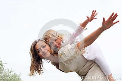 Girl With Mother In The Park Stock Photography - Image: 19693852