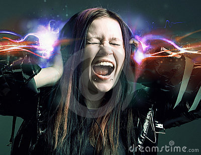 Girl Is A Music Lover Stock Photography - Image: 11118732