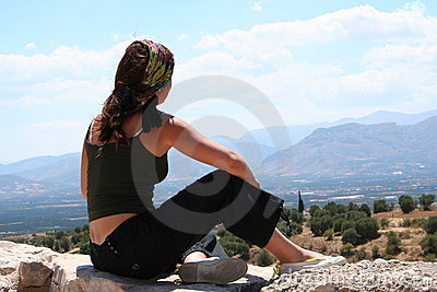 Girl in Mycenae