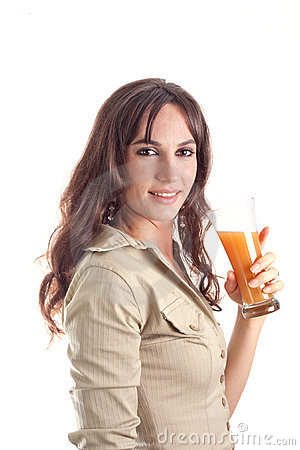 Girl with natural juice