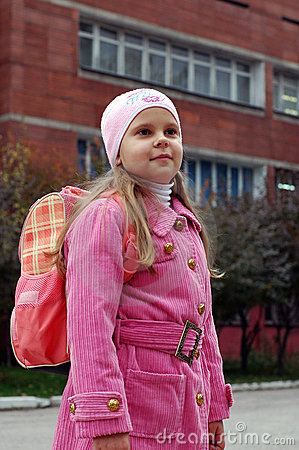 Girl near school