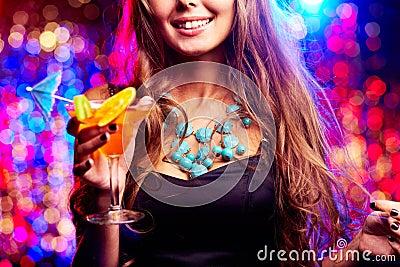 Girl in night club