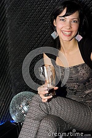 Girl in the night club