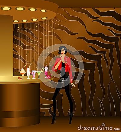 Girl at nightclub