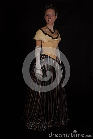 Girl in nineteenth century dress