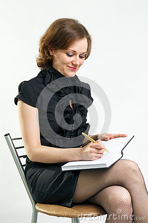 Girl with a notebook