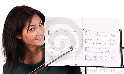 Girl and notebook for notes
