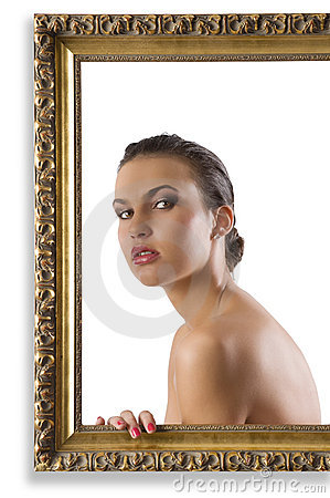 Girl with nude shoulder
