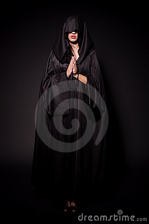 Girl in nun outfit
