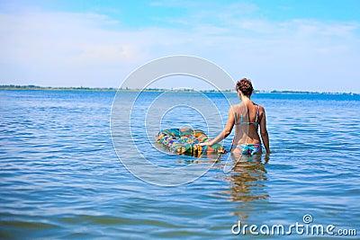 Girl on the ocean
