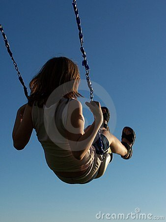 Free Girl On A Swing Royalty Free Stock Photo - 115785