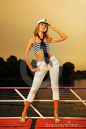 Free Girl On A Yacht Royalty Free Stock Images - 3626889