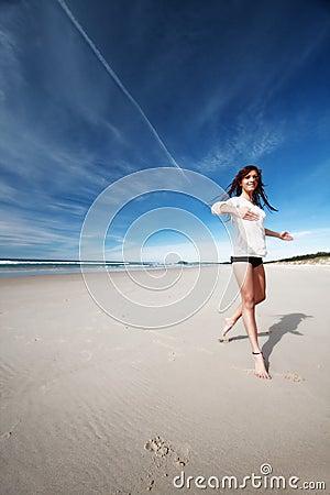 Free Girl On Beach Stock Photos - 5722643