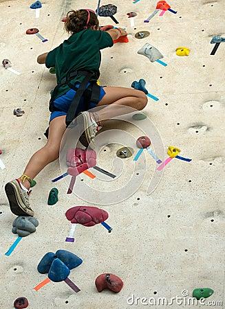 Free Girl On Climb Wall Royalty Free Stock Photos - 10726758